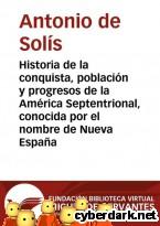 Portada de HISTORIA DE LA CONQUISTA, POBLACIÓN Y PROGRESOS DE LA AMÉRICA SEPTENTRIONAL, CONOCIDA POR EL NOMBRE DE NUEVA ESPAÑA - EBOOK
