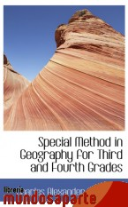 Portada de SPECIAL METHOD IN GEOGRAPHY FOR THIRD AND FOURTH GRADES