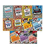 Portada de WHERE'S WALLY? COLLECTION 12 BOOKS SET (THE SEARCH FOR THE LOST THINGS) (FANTASTIC JOURNEY, IN HOLLYWOOD, WONDER BOOKS, ODLAW'S BINOCULARS, WALLY'S KEY, WOOF'S BONE, WENDA'S CAMERA, WIZARD WHITEBEARD'S SCROLL, SPECTACULAR POSTER, STICKER, NOW?)