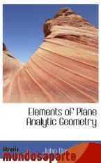 Portada de ELEMENTS OF PLANE ANALYTIC GEOMETRY