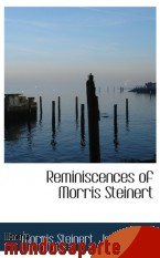 Portada de REMINISCENCES OF MORRIS STEINERT
