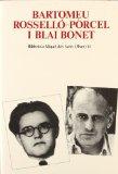 Portada de BARTOMEU ROSELLO PORCEL I BLAI BONET