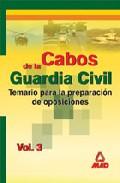Portada de CABOS DE LA GUARDIA CIVIL: TEMARIO
