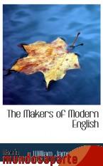Portada de THE MAKERS OF MODERN ENGLISH