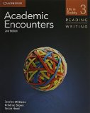 Portada de ACADEMIC ENCOUNTERS LEVEL 3 2 BOOK SET (STUDENT'S BOOK READING AND WRITING AND STUDENT'S BOOK LISTENING AND SPEAKING WITH DVD): LIFE IN SOCIETY 2ND EDITION BY SANABRIA, KIM, WILLIAMS, JESSICA (2012) PAPERBACK