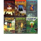 Portada de ERIN HUNTER WARRIORS COLLECTION 1-6 BOOKS SET. (INTO THE WILD, FIRE AND ICE, FOREST OF SECRETS, RISING STORM, A DANGEROUS PATH & THE DARKEST HOUR)