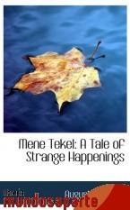 Portada de MENE TEKEL: A TALE OF STRANGE HAPPENINGS