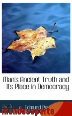 Portada de MAN`S ANCIENT TRUTH AND ITS PLACE IN DEMOCRACY