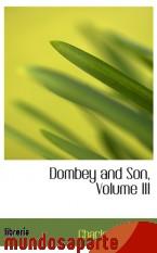 Portada de DOMBEY AND SON, VOLUME III