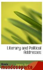 Portada de LITERARY AND POLITICAL ADDRESSES