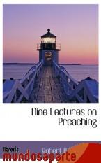 Portada de NINE LECTURES ON PREACHING