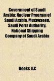 Portada de GOVERNMENT OF SAUDI ARABIA: NUCLEAR PROG