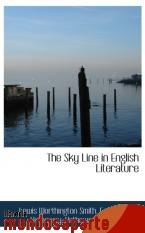 Portada de THE SKY LINE IN ENGLISH LITERATURE