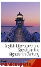 Portada de ENGLISH LITERATURE AND SOCIETY IN THE EIGHTEENTH CENTURY