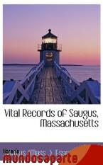 Portada de VITAL RECORDS OF SAUGUS, MASSACHUSETTS
