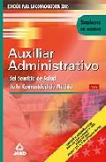 Portada de AUXILIAR ADMINISTRATIVO DE LA COMUNIDAD DE MADRID: SIMULACRO DE EXAMEN