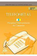 Portada de TELEFONISTAS DEL HOPITAL UNIVERSITARIO DE CANARIAS: TEMARIO. VOLUMEN II