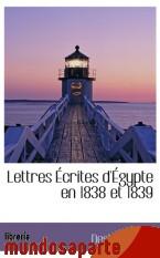 Portada de LETTRES ÉCRITES D`ÉGYPTE EN 1838 ET 1839