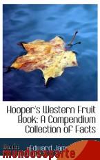 Portada de HOOPER`S WESTERN FRUIT BOOK: A COMPENDIUM COLLECTION OF FACTS