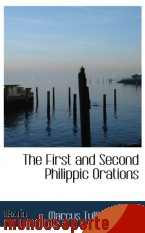 Portada de THE FIRST AND SECOND PHILIPPIC ORATIONS