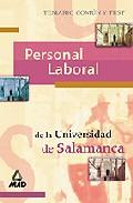 Portada de PERSONAL LABORAL DE LA UNIVERSIDAD DE SALAMANCA: TEMARIO COMUN Y TEST