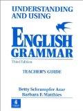 Portada de UNDERSTANDING AND USING ENGLISH GRAMMAR. TEACHER S GUIDE