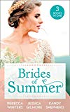 Portada de BRIDES OF SUMMER: THE BILLIONAIRE WHO SAW HER BEAUTY / EXPECTING THE EARL'S BABY / CONVENIENTLY WED TO THE GREEK (MILLS & BOON M&B) (ENGLISH EDITION)