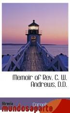 Portada de MEMOIR OF REV. C. W. ANDREWS, D.D