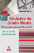 Portada de GRUPO II DE PERSONAL LABORAL DE LA JUNTA DE ANDALUCIA. TITULADOS DE GRADO MEDIO. TEMARIO VOLUMEN II