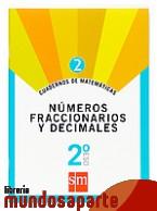 Portada de CUADERNOS DE MATEMÁTICAS 2. 2 ESO. NÚMEROS FRACCIONARIOS Y DECIMALES