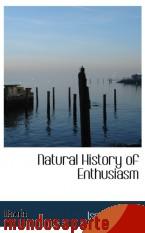 Portada de NATURAL HISTORY OF ENTHUSIASM