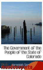 Portada de THE GOVERNMENT OF THE PEOPLE OF THE STATE OF COLORADO