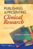 Portada de PUBLISHING AND PRESENTING 3ED: CLINICAL RESEARCH (PB 2013)