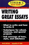Portada de SCHAUM'S QUICK GUIDE TO WRITING GREAT ESSAYS 1ST BY MCCLAIN, MOLLY, ROTH, JACQUELINE (1998) PAPERBACK