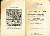 Portada de KLEINE CHRONOLOGIE ZUR GESCHICHTE DES ZEITUNGSWESENS IN HAMBURG VON 1616 BIS 1913 :