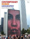 Portada de CONTEMPORARY HUMAN GEOGRAPHY (TEXT ONLY) 1ST (FIRST) EDITION BY J. M. RUBENSTEIN