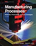 Portada de MANUFACTURING PROCESSES: MATERIALS, PRODUCTIVITY, AND LEAN STRATEGIES BY J. BARRY DUVALL (2011-10-10)