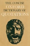 Portada de THE CONCISE OXFORD DICTIONARY OF QUOTATIONS
