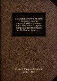 Portada de CATALOGUE DES LIVRES ANCIENS ET MODERNES : POéSIE, ROMANS, FACéTIES, OUVRAGES SUR LA RéVOLUTION FRANçAISE COMPOSANT LA BIBLIOTHÊQUE DE M. CHARLES BRUNET. --