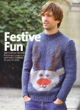"Portada de FESTIVE FUN MEN'S CHRISTMAS REINDEER MOTIF SWEATER KNITTING PATTERN: TO FIT CHEST 36""/38"" 40""/42"" 44""/46"" 48""/50"" 52""/54"" 56""/58"" 92CM-147CM: MATERIALS LANG YARNS, LARGO (SIMPLY KNITTING MAGAZINE PULL OUT PATTERN)"