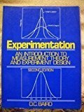 Portada de EXPERIMENTATION: AN INTRODUCTION TO MEASUREMENT THEORY AND EXPERIMENT DESIGN BY D.C. BAIRD (1988-01-01)