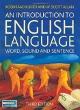 Portada de AN INTRODUCTION TO ENGLISH LANGUAGE: WORD. SOUND AND SENTENCE BY KUIPER. KOENRAAD ( 2010 ) PAPERBACK