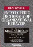 Portada de [THE BLACKWELL ENCYCLOPEDIC DICTIONARY OF ORGANIZATIONAL BEHAVIOR] (BY: NIGEL NICHOLSON) [PUBLISHED: AUGUST, 2006]