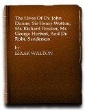 Portada de THE LIVES OF DR. JOHN DONNE, SIR HENRY WOTTON, MR. RICHARD HOOKER, MR. GEORGE HERBERT, AND DR. ROBT. SANDERSON