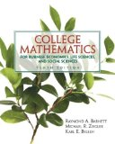 Portada de COLLEGE MATHEMATICS FOR BUSINESS, ECONOMICS, LIFE SCIENCES AND SOCIAL SCIENCES (10TH EDITION) 10TH (TENTH) EDITION BY BARNETT, RAYMOND A., ZIEGLER, MICHAEL R., BYLEEN, KARL E. (2004)