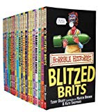 Portada de HORRIBLE HISTORIES COLLECTION 20 BOOKS SET PACK RRP: £120.00 (SAVAGE STONE AGE, AWESOME EGYPTIANS, GROOVY GREEKS, ROTTEN ROMANS, CUT-THROAT CELTS, SMASHING SAXONS, VICIOUS VIKINGS, STORMIN NORMANS , ANGRY AZTECS, INCREDIBLE INCAS, MEASLY MIDDLE AGE.) (