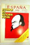 Portada de ESTUDIOS DE HISTORIA SOCIAL. NÚMERO 14. PSIQUIATRIA, PREVISIÓN SOCIAL Y CLASE OBRERA (1917-1936)