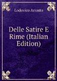 Portada de DELLE SATIRE E RIME (ITALIAN EDITION)