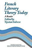 Portada de [(FRENCH LITERARY THEORY TODAY : A READER)] [EDITED BY TZVETAN TODOROV ] PUBLISHED ON (JANUARY, 2011)