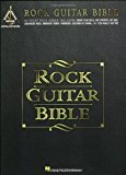 Portada de ROCK GUITAR BIBLE: 33 GREAT ROCK SONGS INCLUDING BORN TO BE WILD, DAY TRIPPER, HEY JOE, JAILHOUSE ROCK, MIDNIGHT RIDER, PARANOID, SULTANS OF SWING, AND YOU REALLY GOT ME BY THE KINKS, CREAM, STEPPENWOLF, THE BEATLES, THE JAMES GANG, (1998) SHEET MUSIC